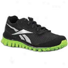 Reebok Realflex - Little Kids - Black/aidic Green/flat Grey