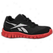 Reebok Realflex Suede - Little Kids - Black/excellent Red/flat Grey