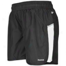 "Reebok Sport sEsentials 5"" Run Short - Womens - Black/white"