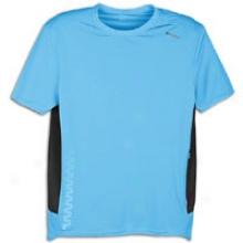 Reebok Trainlng Day Zig Tech S/s Top - Mens - Malibu Blue/gravel