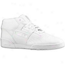 Reebok Workout Mid - Mens - White/white