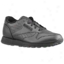 Reebok Yth Classsic Leather - Big Kids - Black/black