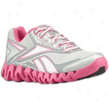 Reebok Zig Activate - Big Kids - Salty Grey/condensed Pink/silber/white