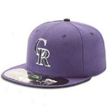 Rockies NewE ra 59fifty Mlb Genuine Cap - Mens - Purple