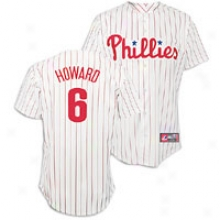Ryan Howard Majestic Mlb Player Replica Jersey - Mens - White