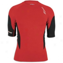 Saucony Amp Pro2 S/s Training Top - Mens - Racer Red/black