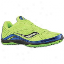 Sauconu Grid Kilkenny Xc4 Flat - Mens - Slime Green/royal