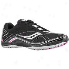 Saucony Grid Kilkenny Xc4 Flat - Womens - Black/white/hot Pink