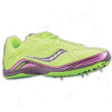 Saucony Grid Kilkenny Xc4 Ear - Womens - Slime Green/pink