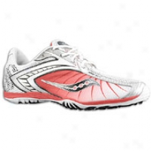 Saucony Shay Xc2 Flat - Mens - White/red/silver