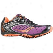 Saucony Shay Xc2 Flat - Womens - Purple/black/vizipro Orange