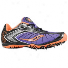 Saucony Shay Xc2 Spike - Womens - Purple/black/vizipro Orange