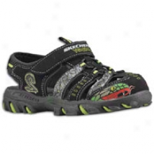 Skechers Afterburn S Venomous - Brief Kids - Black/green/snake Trim