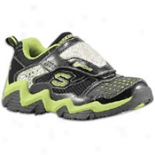 Skechers Luminatprs Luma Wave - Miniature Kids - Black/black/lime