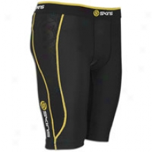 Skins A200 Compression Half Tight - Mens - Black/yellow