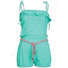 Southpole Basic Romper W/ Ruffle & Spgtti Straps - Womens - Emerald