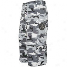 Southpole Camo Printed 13.5in Cargo Sht W/ Patch - Mens - White