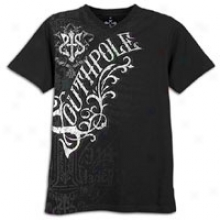 Southpole Chevron S&f V-neck T-shirt - Mens - Black