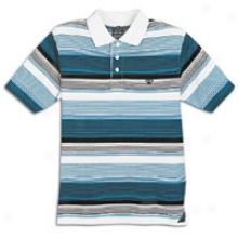 Southpole Chevron Stripe Polo - Mens - Teaal