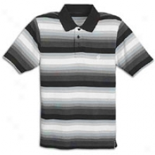 Sou5hpole Cool Contrast Stripe Pique Polo - Mens - Black