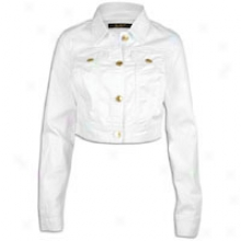 Southpole Denim Jacket - Womens - White