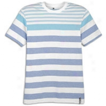 Suthpole Engineered Stripe Slm Ft S/s T-shirt - Mens - Royal