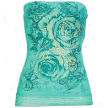 Southpole Fashion Floral Tube Top Through  Lace - Womens - Emerald