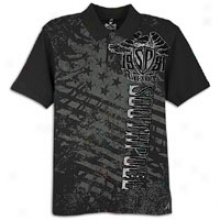 Southpole Fashion Polo W/ Flock Print - Mens - Black
