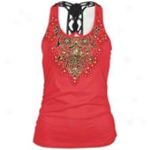 Southpole Fashion Raceeback Tank Top W/ Crochet - Womens - Red