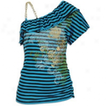 Southpole Gentility Surface W/ Chain Detail - Womens - Pacific Blue
