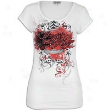 Southpole Flock Detail S/s T-shirt - Womens - White