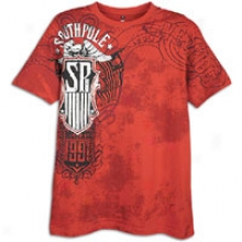 Southpole Foil And Screen Print S/s T-shirt - Mens - Tomato Fluid part