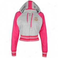 Southpole Full Zip French Terry Hoodie - Womens - Heather Grey
