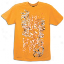 Southpole Glitter Print S/s T-shirt - Mens - Orange