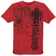 Southpole Live To Ride Flck & Scrn Print T-shirt - Mens - Crimson