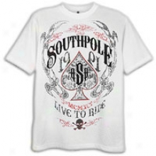 Southpole Live To Ride Scrn & Flck Print T-shirt - Mens - White