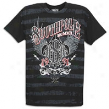 Southpole Live To Ride Scrn & Glttr T-shirt - Mens - Black