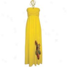 Southpole Maxi Halteer Dress - Womens - Yellow