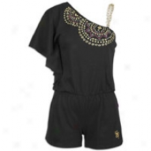 Southpole One Shoulde rRomper - Womens - Black