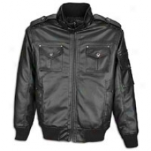 Southpole Perforated Pu Jacket - Mrns - Black