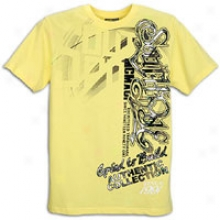 Southpole Plaid & Stripe Screen & Collection  T-shirt - Mens - Lemon Yellow