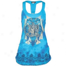 Southpole Plus Size Fashion Tank Top - Womens - Pacific Blue