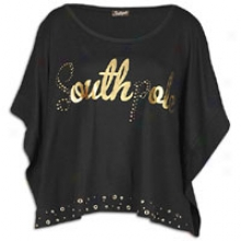 Southpole More Size Defeat Logo Crop Top W/grommet - Womens - Black