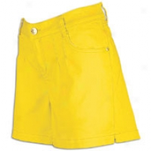 Southpole Plus Sized Colored Twill Shorts - Wkmens - Yellow