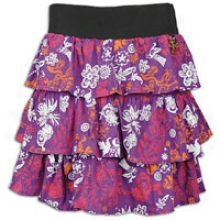 Southpole Plus Sized Tiered Printed Skirt - Womens - Purple