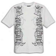 Sourhpole Premium Foil And Screen Print T-shirt - Mens - White