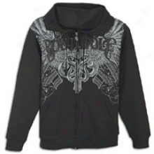 Southpole Premium Full Zip Hoodie With Applique - Mens - Negro