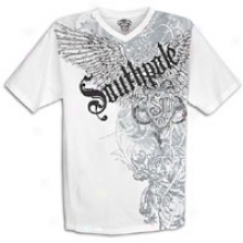 Southpole Premium Riddle And Caviar V-neck - Mens - White