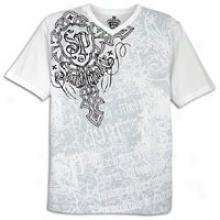 Southpole Premlum Screen Impress V-neck T-shirt - Mens - White