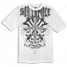 Southpole Premium Screen/glitter Print T-shirt - Mens - White